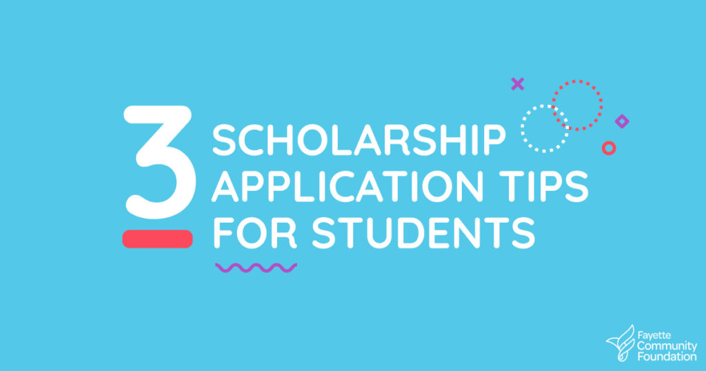 3 Scholarship Tips for Students