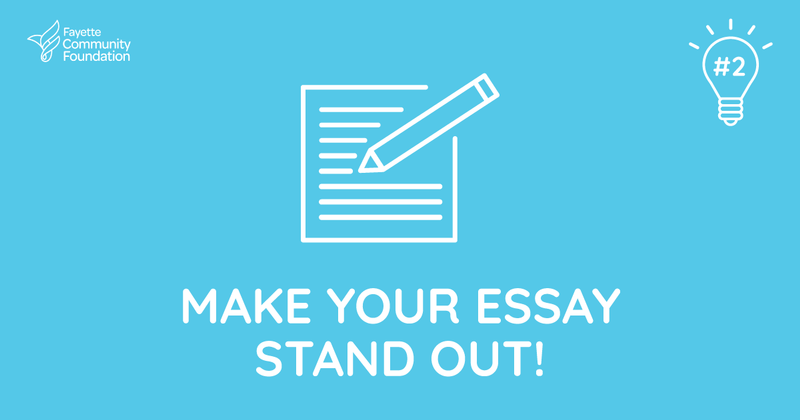 Scholarship Tips: Make Your Essay Standout